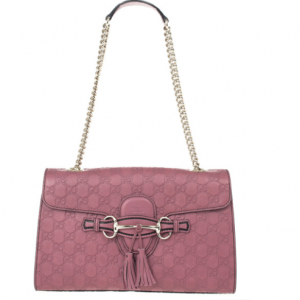 b719bd924fdf Gucci Pink Emily Guccissima Leather Chain Shoulder Bag